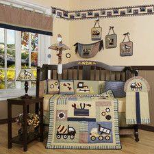 Boutique Baby Boy Constructor 13 Piece Crib Bedding Set