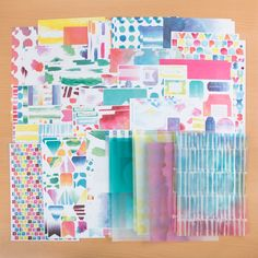 Paper Pack 36pk Elements Pigment Papermania Capsule Collection 12x12
