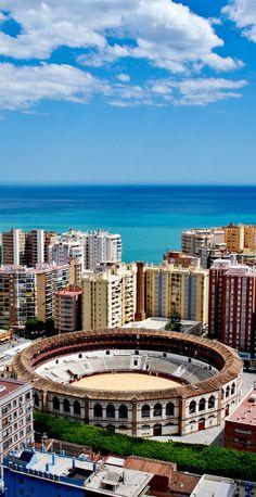 Amazing View of Malaga, modern yet historic city, Spain