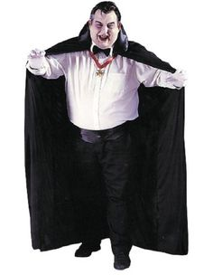 Fun World Mens Cape, Big & Tall Adult Black Standard One-size - Get ready to prowl around town in this awesome costume. This long men's cape is thin—not lined, lightweight and durable.  Visit http://costumesforhalloweenideas.blogspot.com/ for more information.