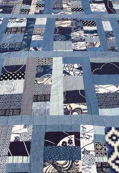 Quilt Indigo Custom Order Japanese Boro by artdesignsbydanielle