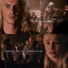 Viserys felt threatened when he realized they all loved Dany, and then Dany feels threatened because they all love Jon and she's an outsider to the Westerosi and they don't know her and she thought they'd much rather have him as King than her as Queen. Game Of Thrones Episodes, Got Game Of Thrones, A Dance With Dragons, Mother Of Dragons, Maester Luwin, Deanerys Targaryen, Joe Dempsie, The Things They Carried, Game Of Thones