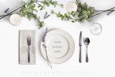 Menu Mockup, Stationery Mockup by Her Creative Studio on @creativemarket