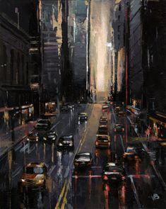 ☆ Night 42nd Street :¦: Artist Victor Bauer ☆