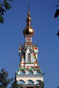 Zenkov Cathedral Almaty, Kazakhstan ~ built of wood about 100 years ago.