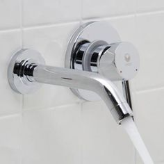 Rotunda Wall-Mount Bathroom Faucet | Faucet, Wall mount and Walls