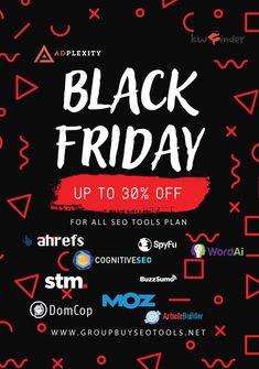 Black Friday Offer | 100+ SEO Tools With Big Discount | 30% OFF Now The Marketing, Marketing Tools, Affiliate Marketing, Digital Marketing Channels, Black Friday Offer, Free Seo Tools, Seo Sem, Display Advertising, Seo Tips