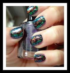 Rainbow Flakie Nails!