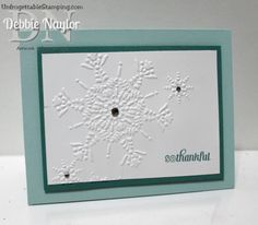 Unfrogettable Stamping | Week 11 Christmas QE Northern Flurry thank you card  http://www.unfrogettablestamping.com/my_weblog/2014/12/fabulous-friday-thank-you-card-doubling-as-my-week-11-quick-easy-christmas-card-idea-1.html