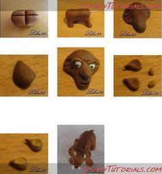 Ice Age Squirrel Scrat Cake Topper Tutorial Cake