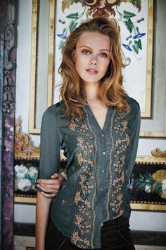 Ooooo, lovely. Sovana Buttondown #anthropologie