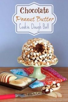 Healthy Chocolate Peanut Butter Cookie Dough Ball — Cupcakes & Kale Chips by janna