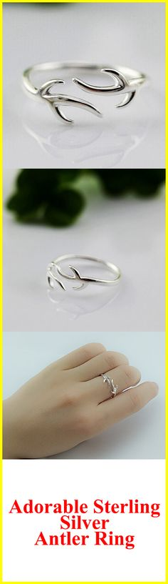 Get this Adorable Sterling Silver Deer Ring! Grab Yours Here ===> https://www.corporationgeek.com/products/sterling-silver-antler-ring?utm_source=facebook&utm_campaign=deerring_pinterestad1&utm_medium=ppc