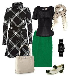 """""""Inspired by Custo Barcelona Fall 2012 - 1"""" by youlookfab ❤ liked on Polyvore featuring Coast, Valentino, H&M, Marc by Marc Jacobs, Movado, All Black and Principles by Ben de Lisi"""