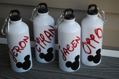 Mickey Or Minnie Personalized Aluminum Bottle by jgrimes1 on Etsy. $7.75, via Etsy.