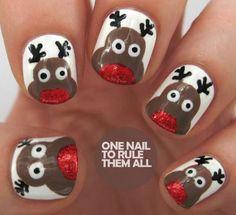 20 Cool Reindeer Nail Art Designs Ideas Trends