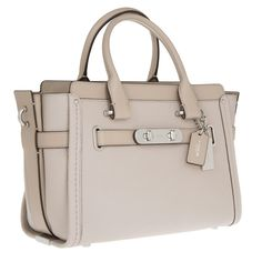Coach Swagger 27 Carryall Pebbled Cowhide Grey Birch bei Fashionette