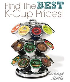 Find the BEST prices on k-cups online!  There are deals here for just about every brand, flavor, and type of coffee & tea available. This week K-cups are as low as 26¢ per cup and 37¢ per cup for organic and fair trade!!