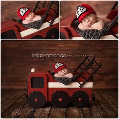Fire truck Prop Photo Prop Newborn Photography by MrAndMrsAndCo
