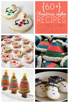60 Plus Easy Christmas Cookie Recipes by @savedbyloves at www.tasteeveryseason.com