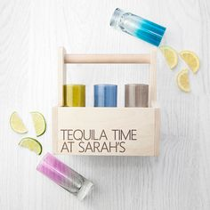 Personalised LSA Coloured Cocktail Highball Trug - Party Set - 18th Birthday Gift - 21st Birthday Gift - Party Girl - Party Boy - Shots