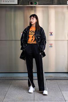 Trendy clothing on fall korean fashion 798 Korean Fashion Summer Street Styles, Asian Fashion, Look Fashion, Winter Fashion, Girl Fashion, Fashion Dresses, Womens Fashion, Fashion 2017, Fashion Ideas