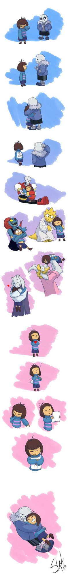 Hugs for all Source Notes Undertale - The Legendary Hug Master by TC-96