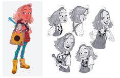 (*) Twitter Pixar Character Design, Character Design Sketches, Character Design References, Character Design Inspiration, Character Illustration, Simple Character, Kid Character, Character Concept, Concept Art