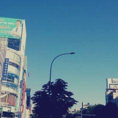 줄근중. 서울 하늘이 이렇게 파랬던 기억이 없는데~ ∙ ∙ ∙ #출근 #일상 #논현동 #서울 #서울스타스램 #강남 #강남스타그램 #daily #seoul #seoulstagram #seoulster #seoullife #seoulsky #nonhyeon #gangnam #gangnamstagram #hallyupedist #korea