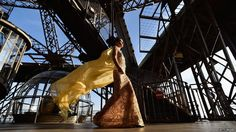 A model walks during the J. Autumn Fashion Show 2014 at Eiffel Tower on 31 October 2014 in Paris, France.