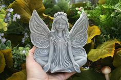 Zen Art -- Fairy Statue -- Yoga In The Enchanted Garden