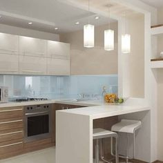 10 Styles Perfect for the small kitchen # Kitchen Faucets # Kitchen Lighting # Kitchen . - Home sweet Home - # for # kitchen . Kitchen Room Design, Kitchen Cabinet Design, Modern Kitchen Design, Kitchen Layout, Home Decor Kitchen, Interior Design Kitchen, Kitchen Ideas, Kitchen Inspiration, Kitchen Cabinets