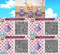 Animal Crossing: New Leaf - sailor dress QR-code