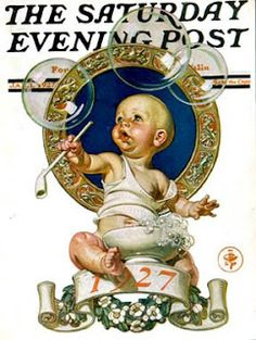 J.C. Leyendecker, 1927 is the prettiest New Year's baby IMHO.