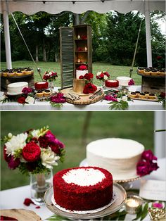 dessert table gold with red roses @weddingchicks
