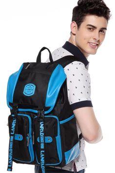 กระเป๋าเป้สไตล์สปอร์ตทูโทน รุ่น A13LP3346BK - สีดำฟ้า