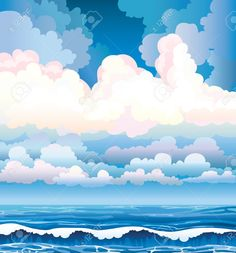 Blue Sea With Waves And Cloudy Stormy Sky Royalty Free Cliparts ...
