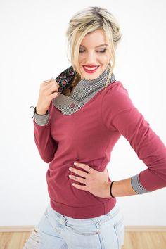 Longsleeves - Shirt Birdy himbeer pink - ein Designerstück von Shoko bei DaWanda