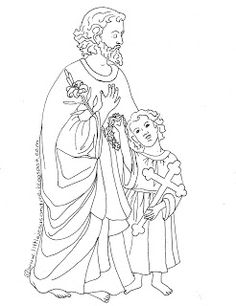Two Coloring Pages for the Feast of St. Joseph March 19th;  Saint Joseph's Altar;  Saint Joseph's Table FREE PRINTABLE
