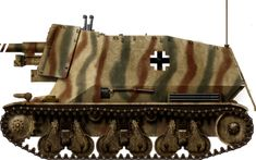 Panzerjager auf GW39H(f) Marder-I tank hunter, Normandy, summer 1944.