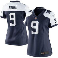 Fanatics.com - Nike Nike Tony Romo Dallas Cowboys Womens Limited Throwback Jersey - Navy Blue/White - AdoreWe.com