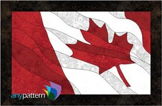 Name: 'Quilting : Canadian Flag - Tiled Quilting Projects, Quilting Designs, Quilting Ideas, Canadian Quilts, Flag Quilt, Patriotic Quilts, Quilt Blocks, Quilts Canada, Wildlife Quilts