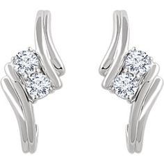 Diamond Two Stone Earrings Item Trending Now 2 Styles Can Match With Ring Necklace Engagement And So Much More