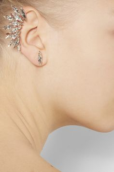 Fairy earring   Rose gold plated #Swarovski crystal ear cuff   Ryan Storer