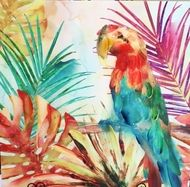 Parrot Colourful Artwork Painting $85.00 www.wallartroad.com.au #wallartroad #animaldecor #decor