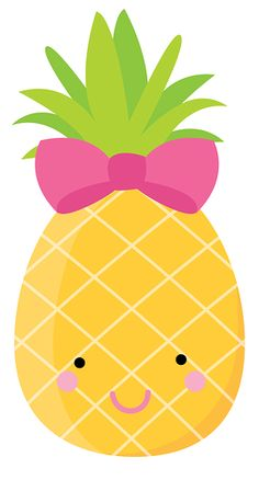 "Photo from album ""ZWD_Pineapple_clipart"" on Yandex. Fruit Birthday, Flamingo Birthday, Flamingo Party, Pineapple Clipart, Image Deco, Diy And Crafts, Crafts For Kids, Kawaii Doodles, Cute Fruit"