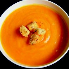 Roasted butternut and rosemary soup  This herby soup is wonderfully fragrant and soothing.