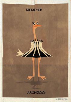 Galeria - ARCHIZOO: Animais ilustrados a partir de formas arquitetônicas, por Federico Babina - 2