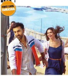 #DeepikaPadukone and #RanbirKapoor first look on #Tamasha film.
