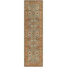 Safavieh Handmade Antiquity Una Traditional Oriental Wool Rug x Runner - Blue/Beige) Classic Rugs, Traditional Area Rugs, Old World Style, Oriental Pattern, Carpet Stains, Rug Making, Blue Area Rugs, Rug Runner, Rug Size